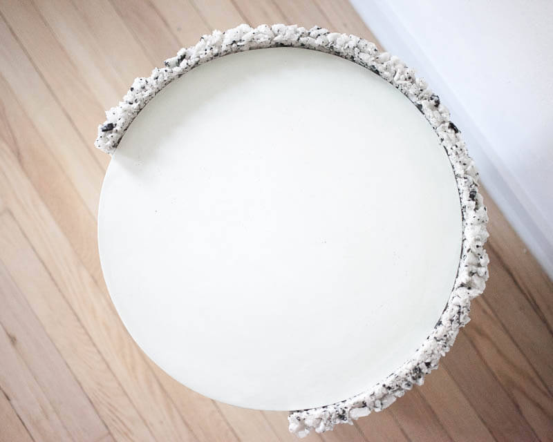 Samuel Amoia Shell Drum of White Moonstone and Green Plaster