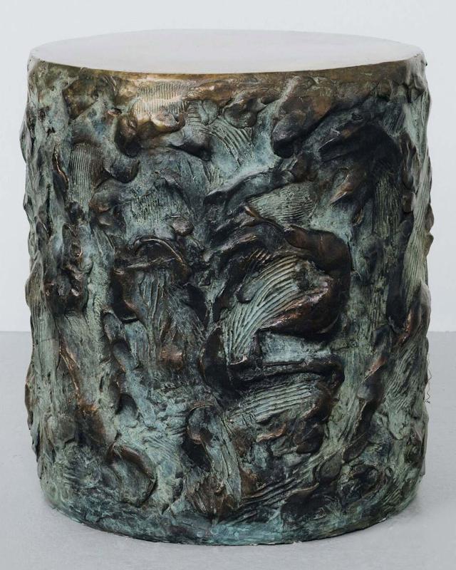 Drum of Sculpted Cast Bronze