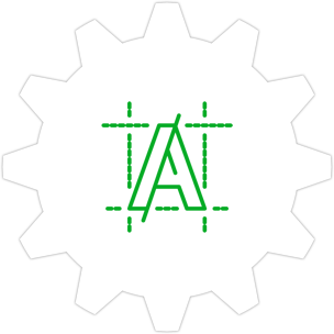 Icon: Logo and alignment grid with a gear symbol in the background.