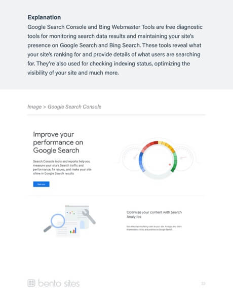 Website Report: Google Search Console explanation.