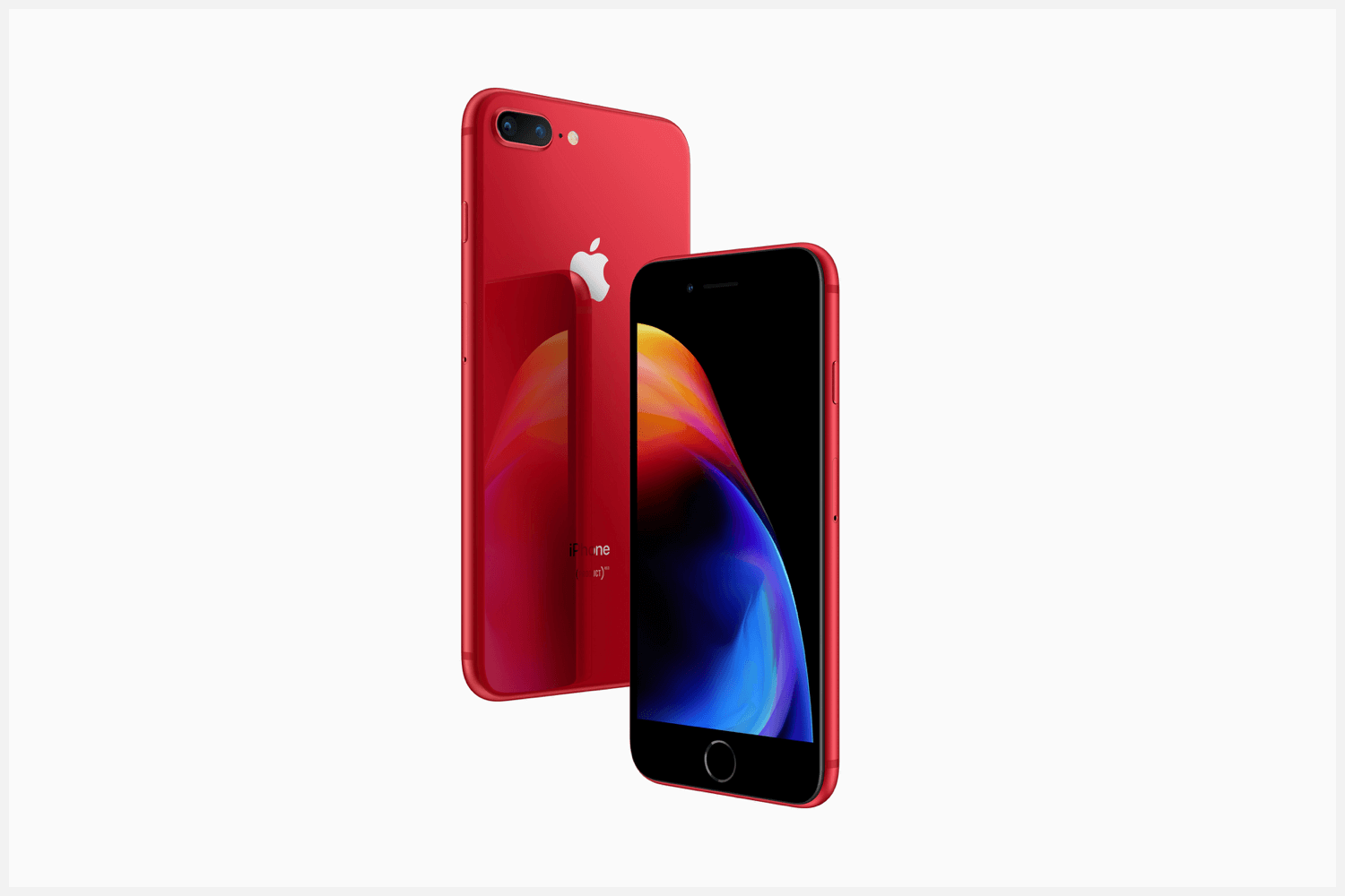 The front and back of Apple's Product Red iPhone