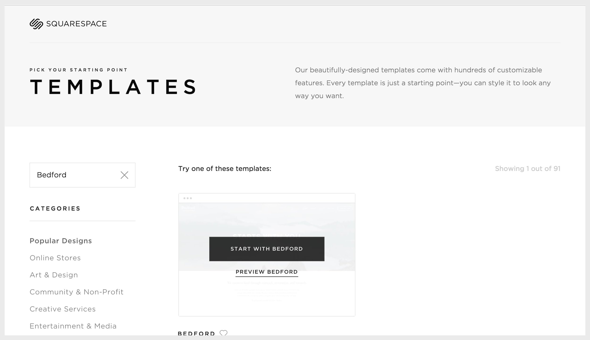 Install and preview a Squarespace template