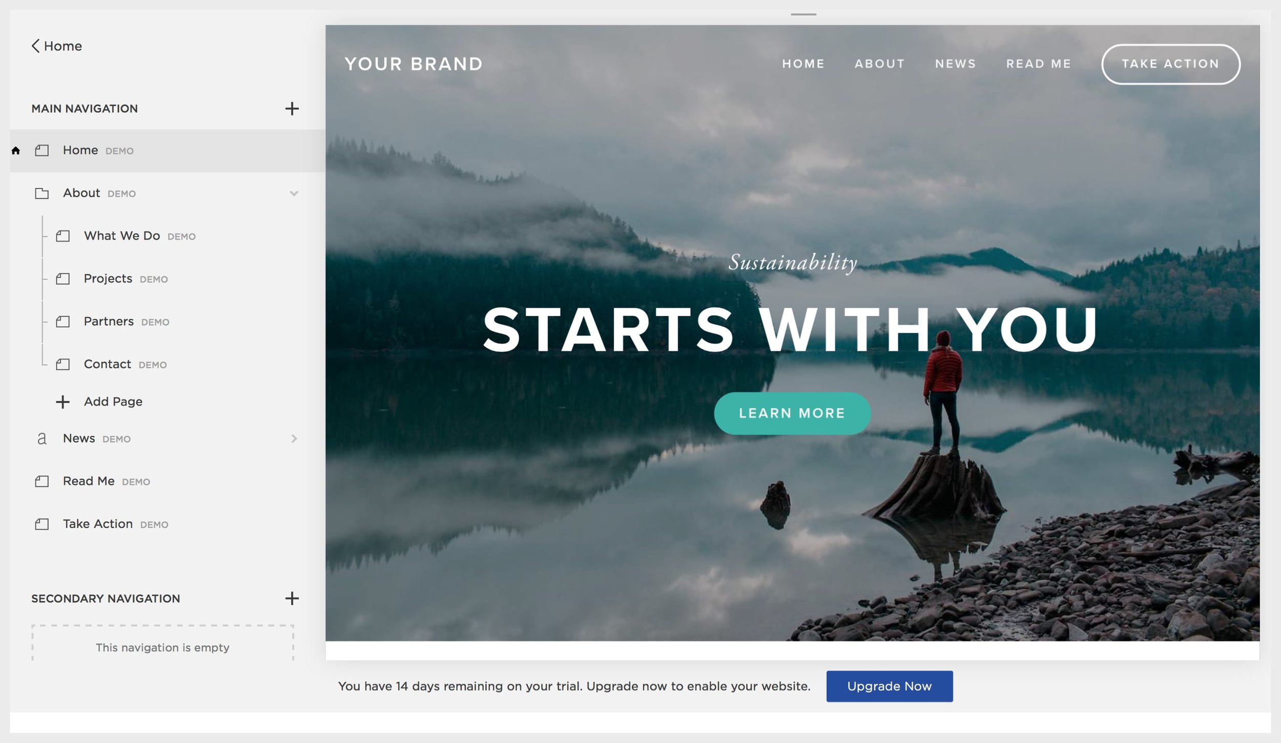 Example of customizing a Squarespace template