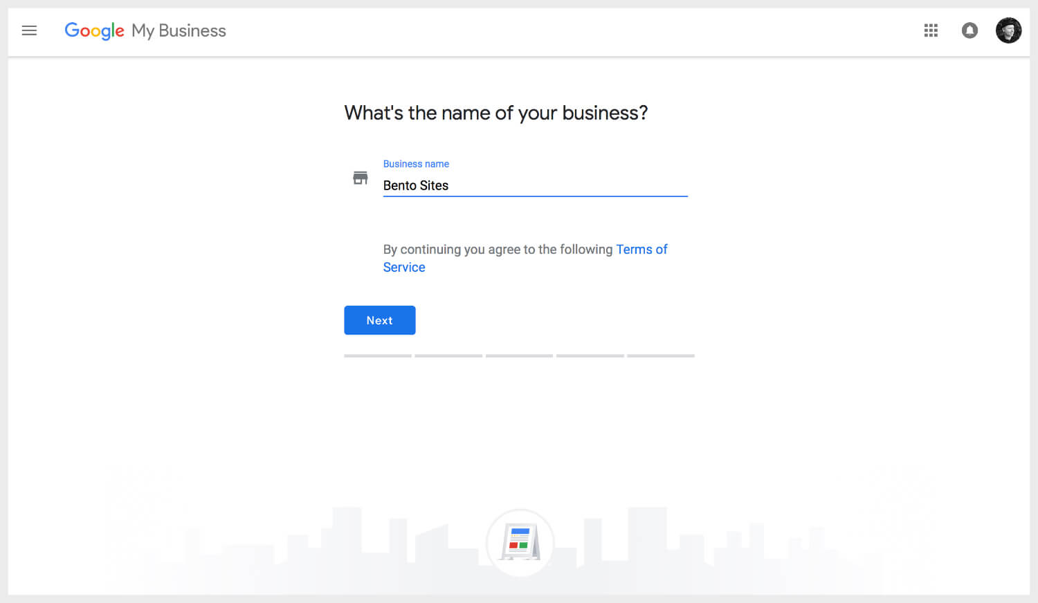 Adding business name on Google My Business