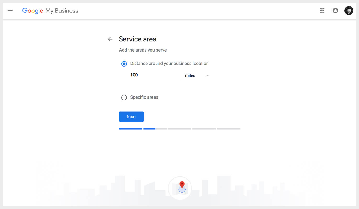 Adding service area on Google My Business