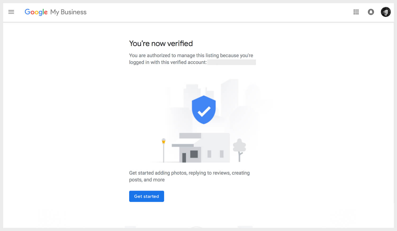 You're now verified on Google My Business