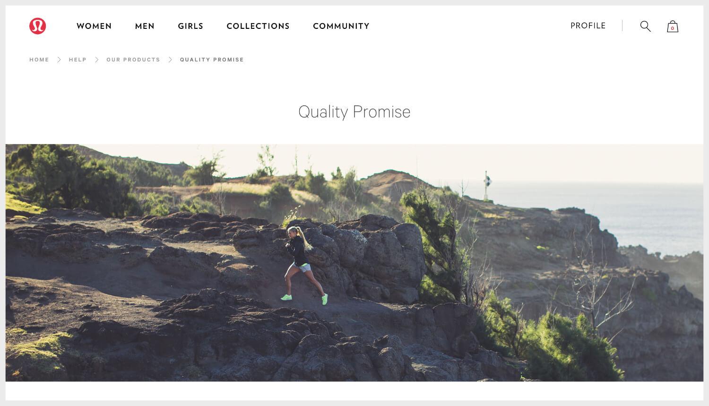 Lulu Lemon's homepage