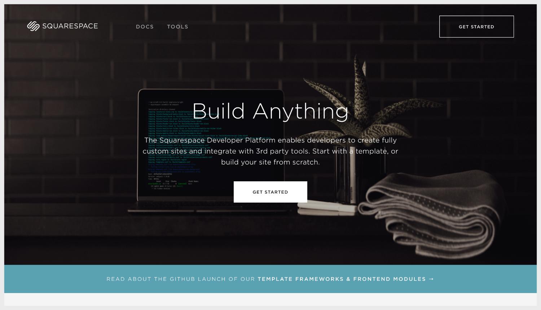 Squarespace's Developer Platform webpage