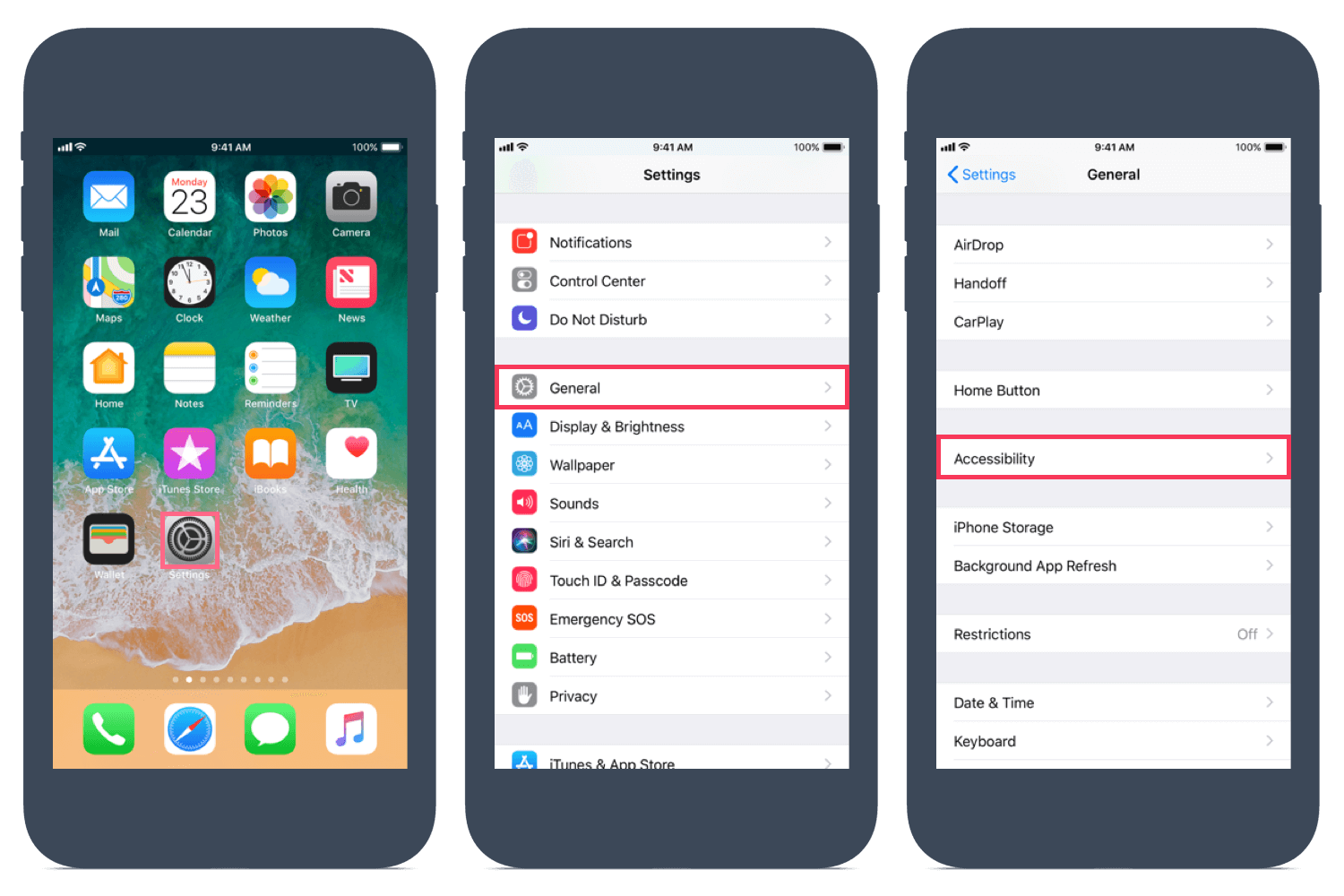 How to setup Speak Selection on iOS