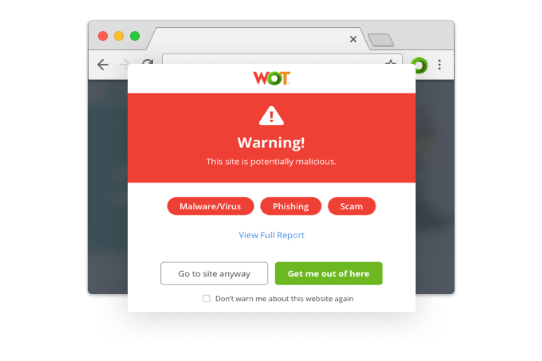 Web of Trust's Chrome extention