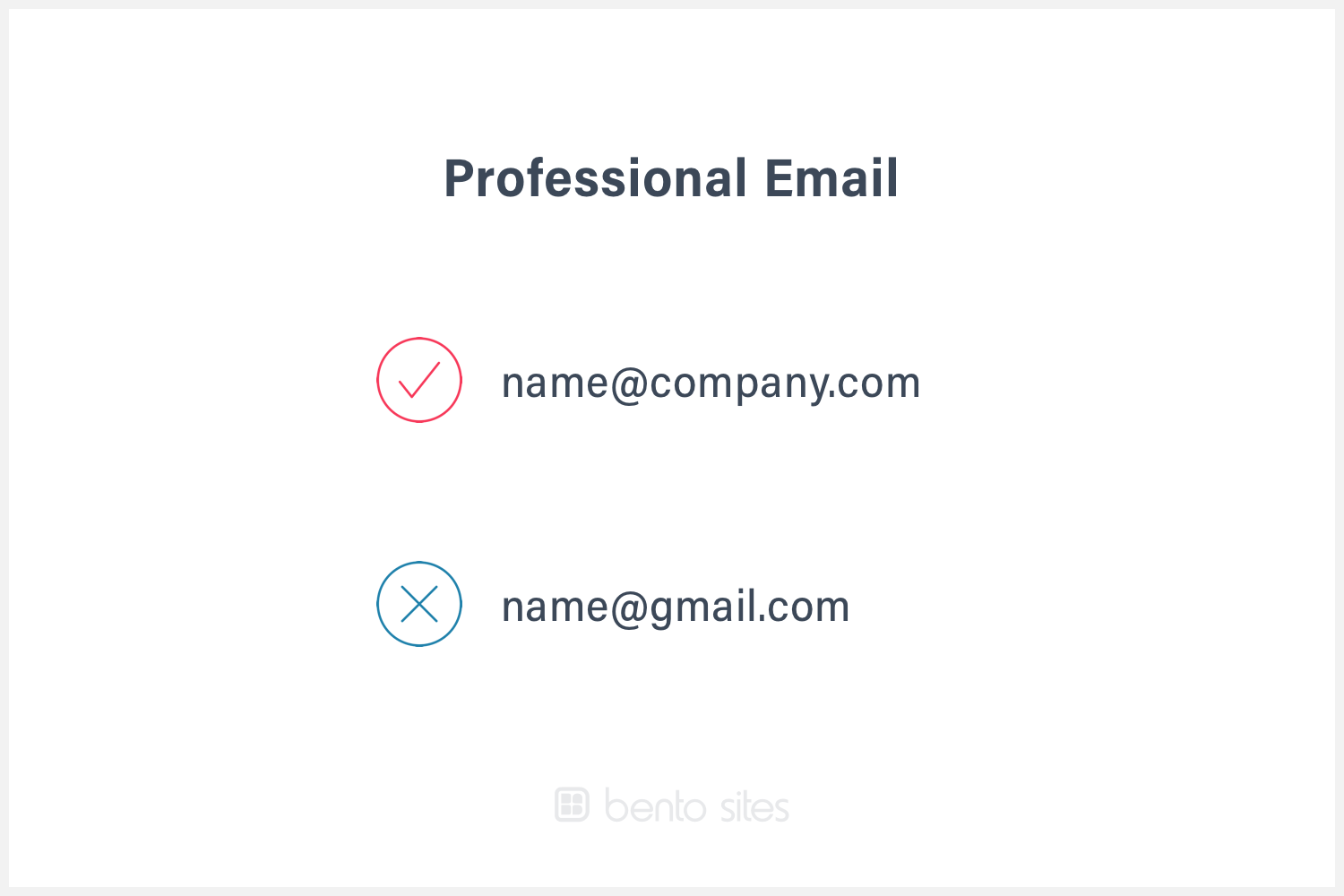 Example of professional email (name@company.com)