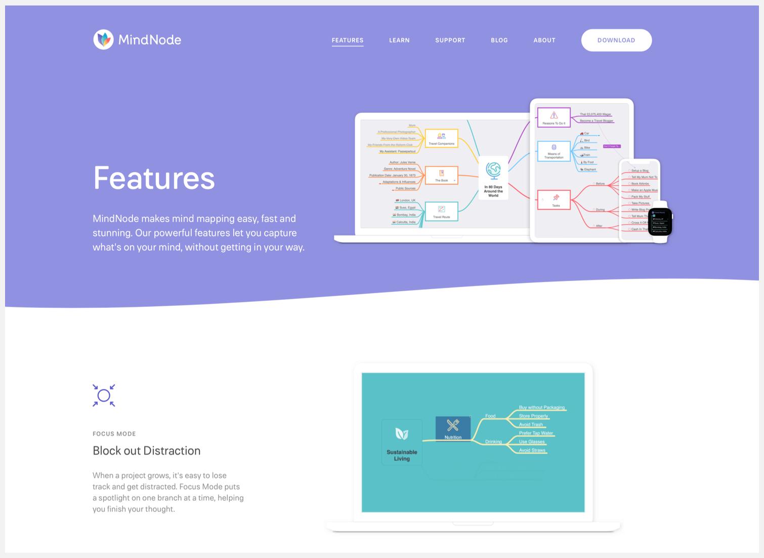 Mindnode homepage