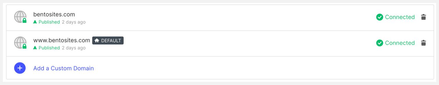 """Webflow's """"Add a Custom Domain"""" panel"""