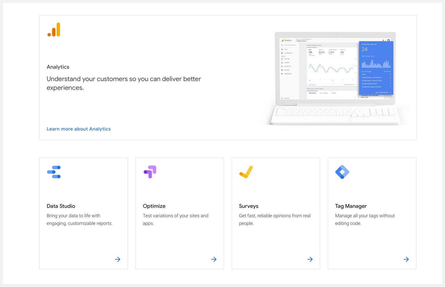 Google Marketing Platform's core products.