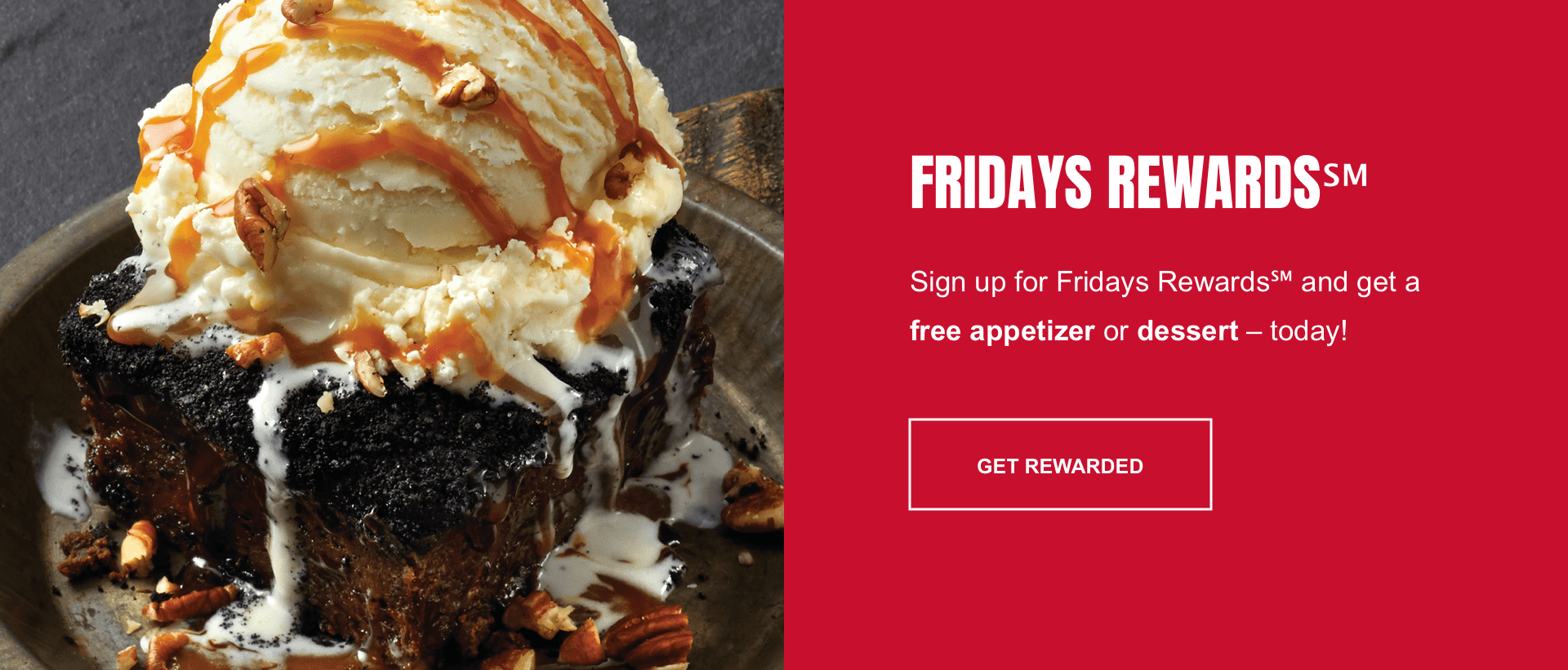 Section 4 redesign concept of TGI Fridays' website.
