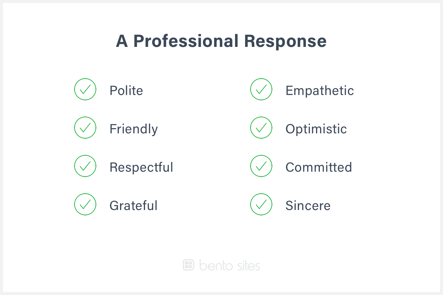 List of positive adjectives for responding professionally.