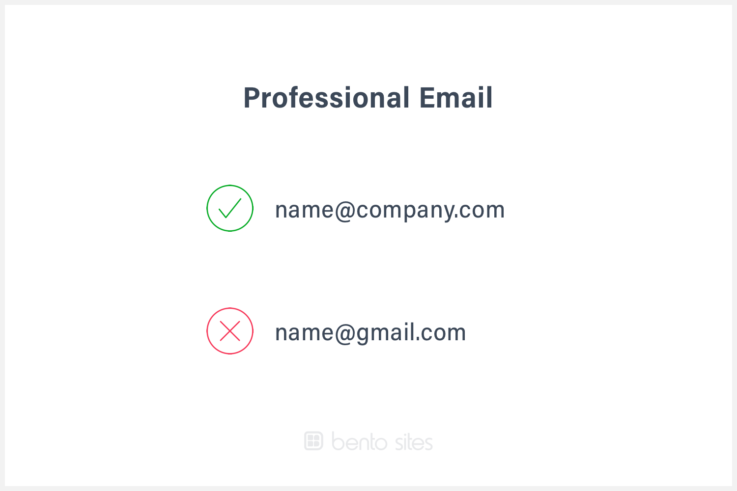 Example of professional email (name@company.com).