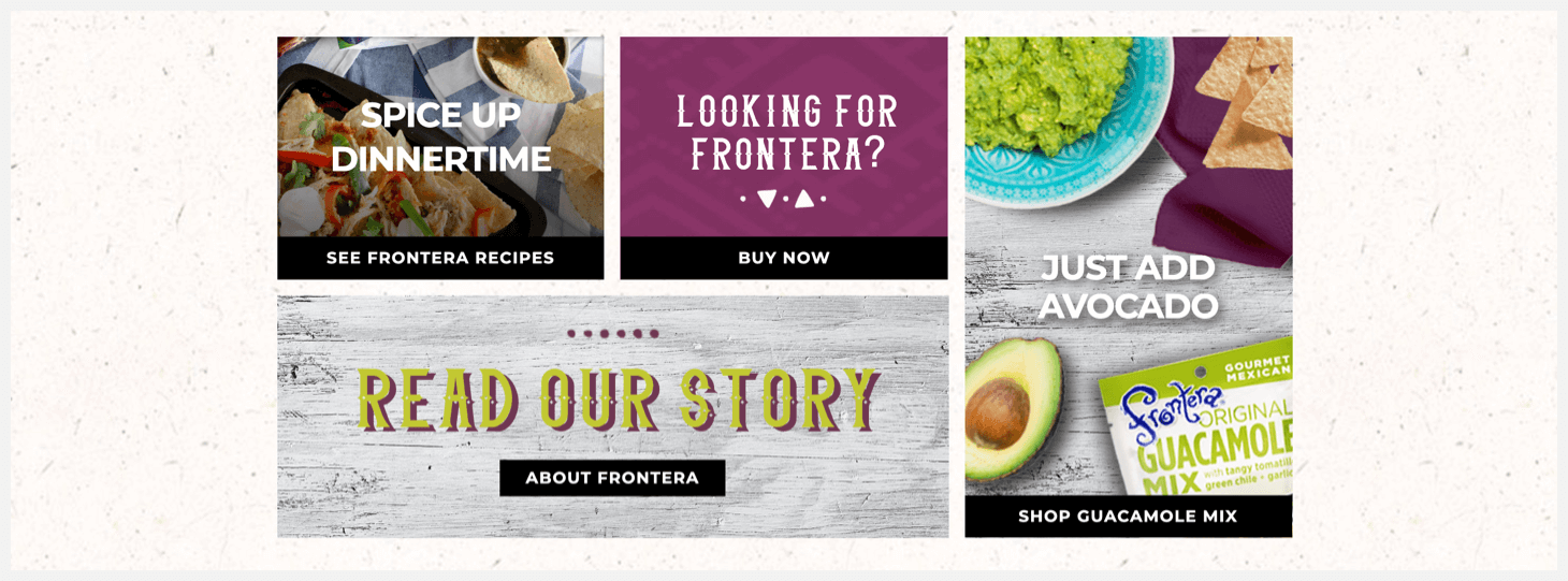 Section 2 of Frontera's website.