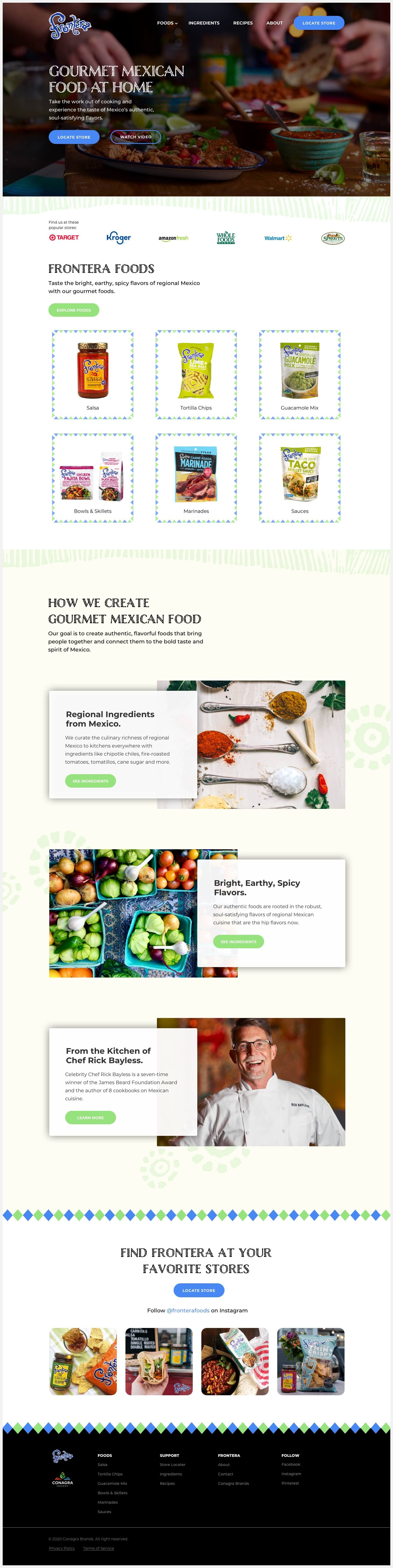 Fontera's redesigned website.