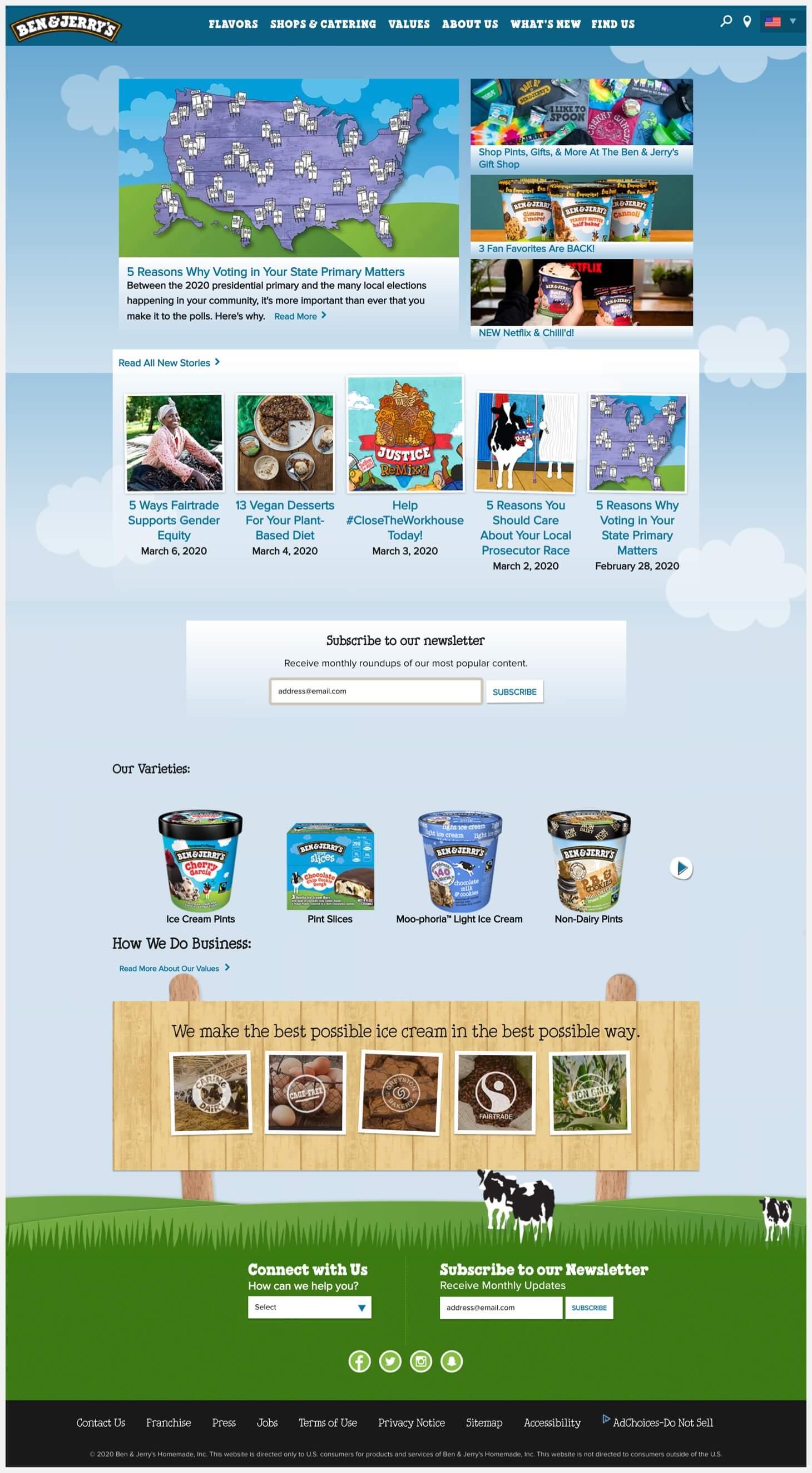 ben & Jerry's website.