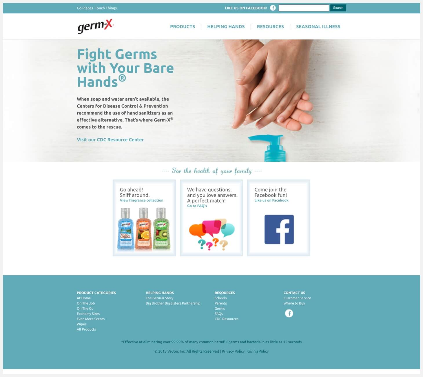 The Germ-X website.