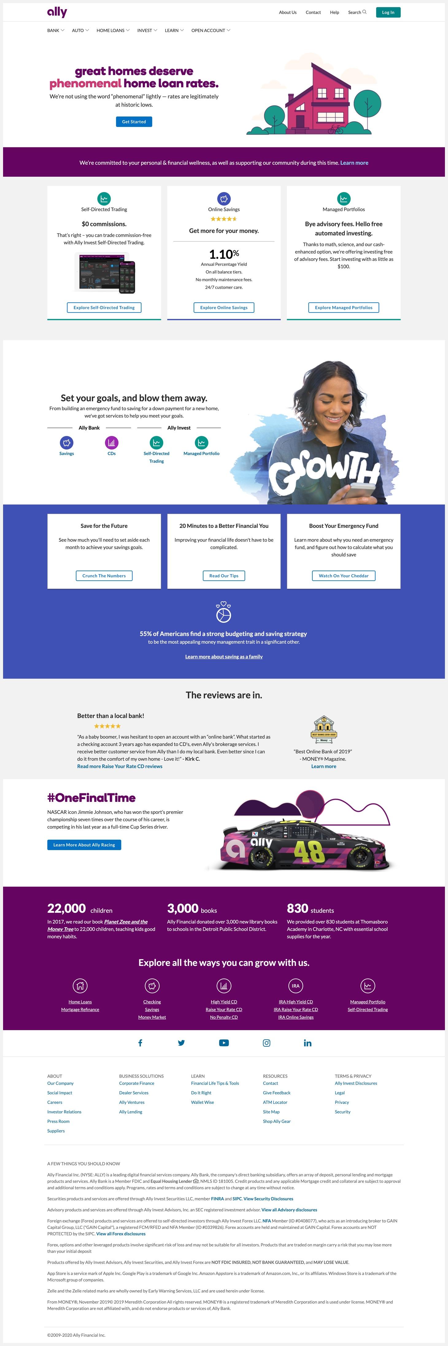 Ally Financial's website.