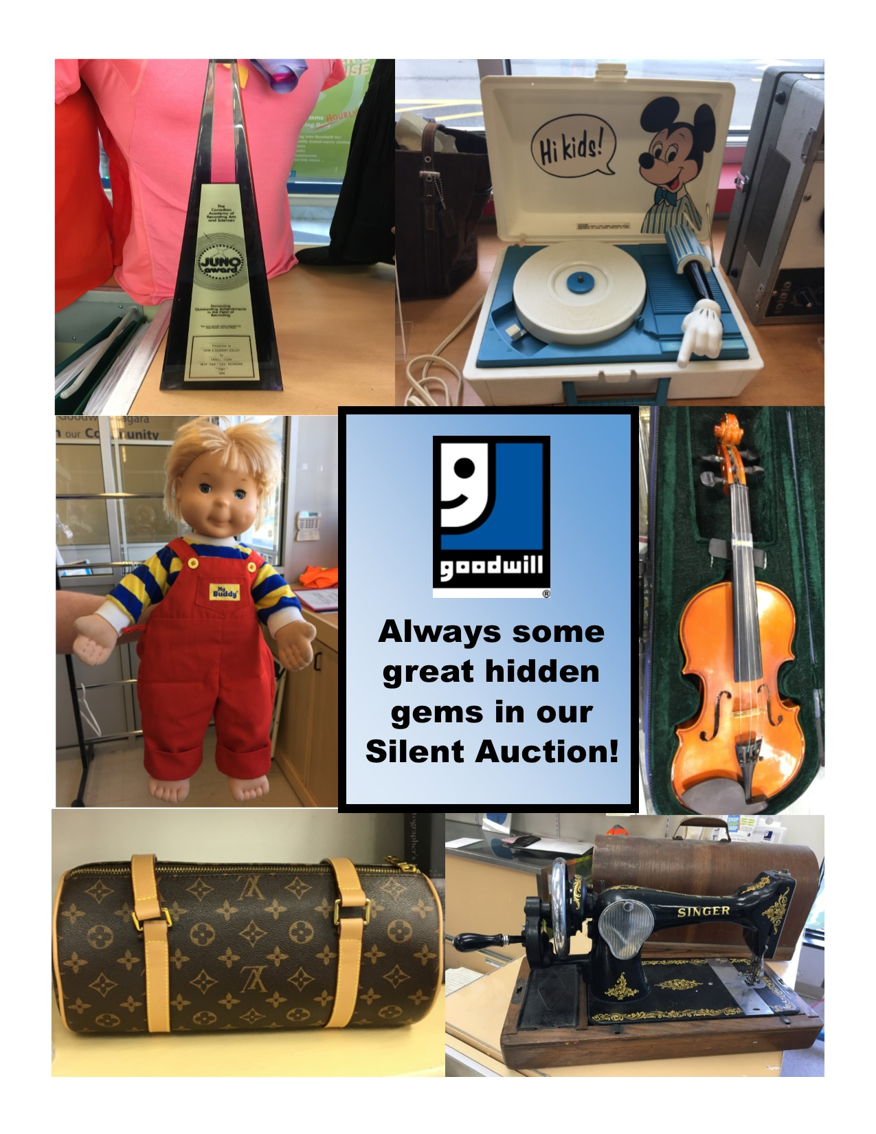 Goodwill Silent Auction Prizes