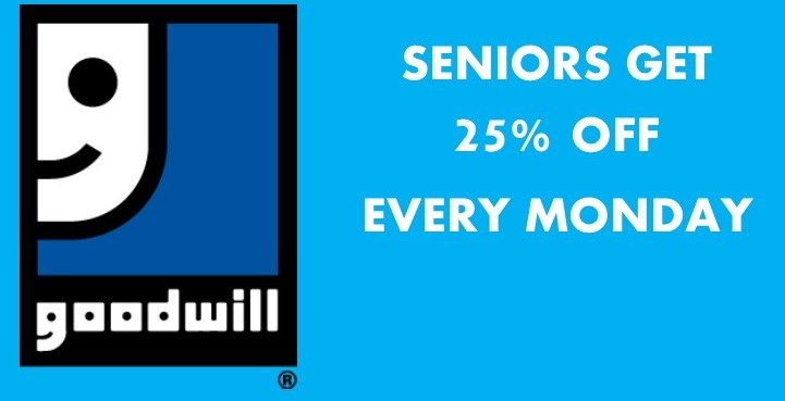 seniors get 25% off every monday