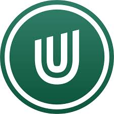 Ultimate meal plans logo, U inside a green circle