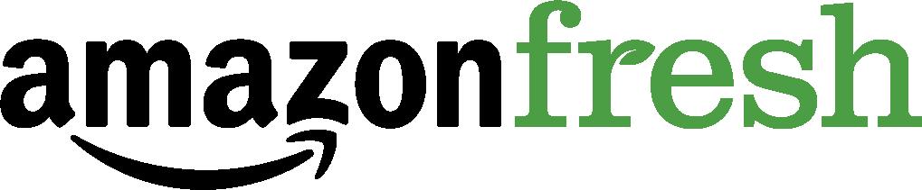 Amazon fresh logo white on black background