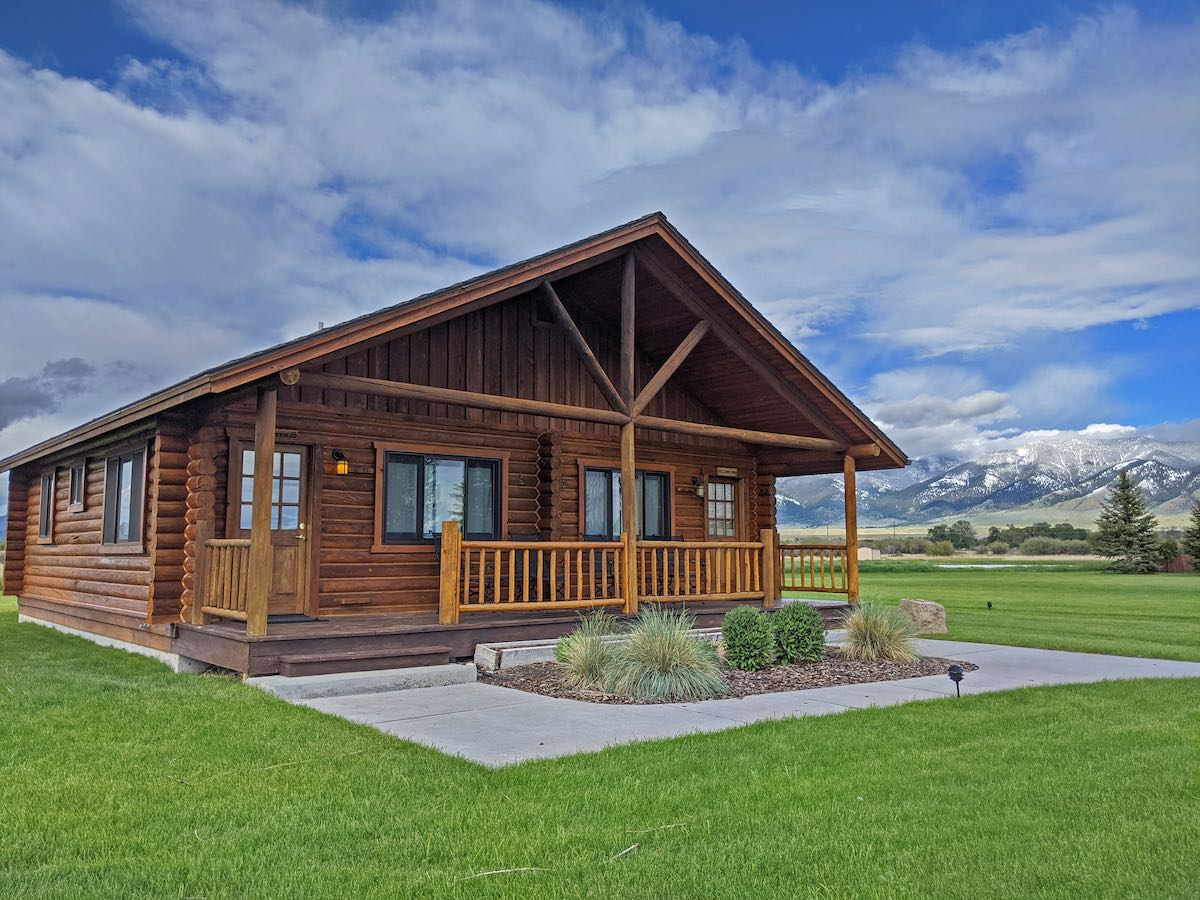 One of our cabins on the Madison River.