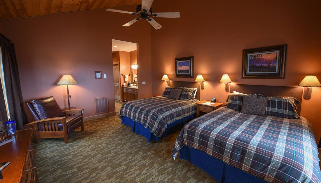 One of the rooms at madison valley ranch.