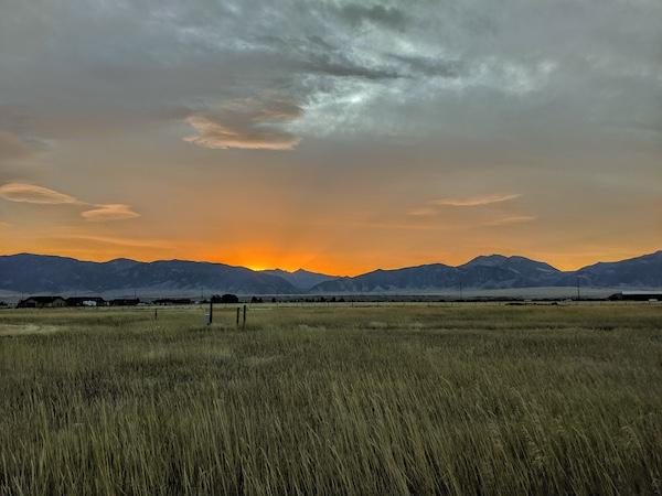 A beautiful Montana sunset.