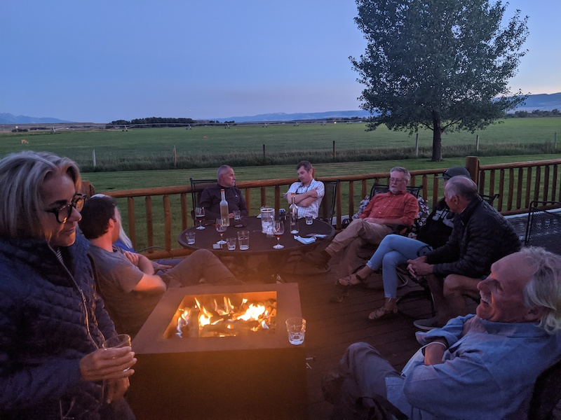 Guests enjoying the Madison Valley lodge.