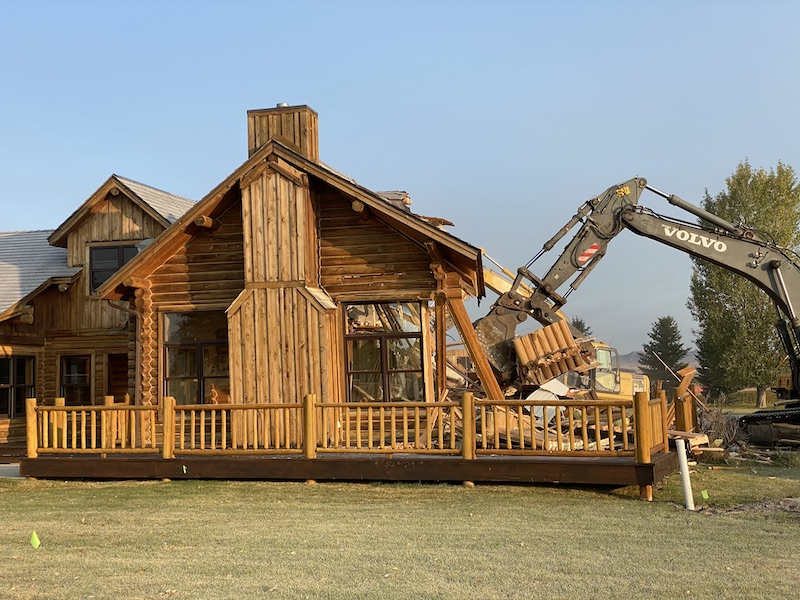 New fishing lodge on the Madison River.