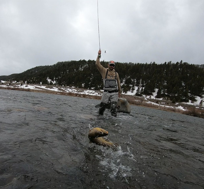 Catching trout on the Madison River