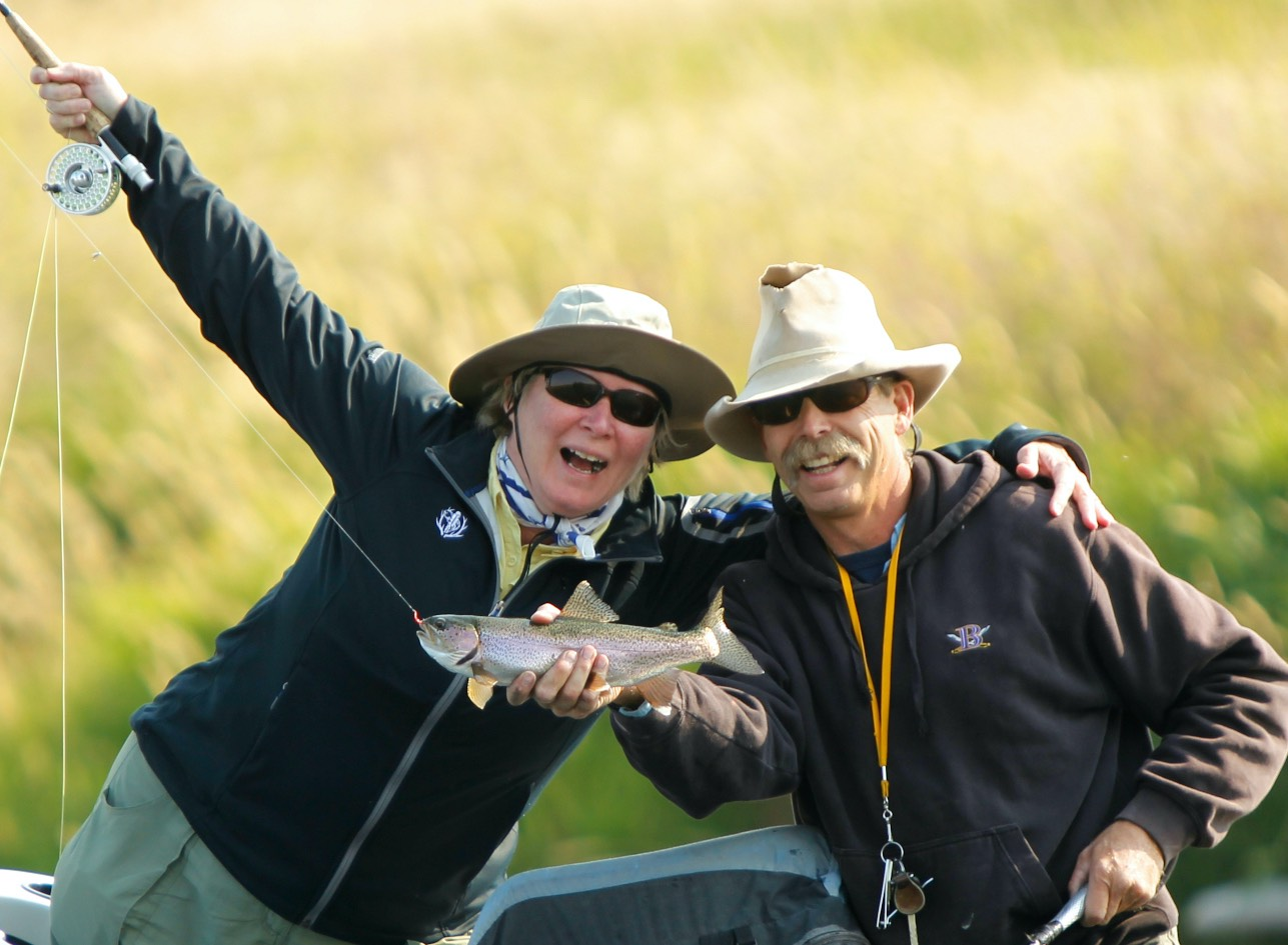 Chris eaton fly fishing madison River.