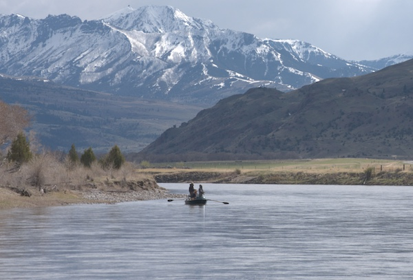 Guide trip on the Yellowstone River.