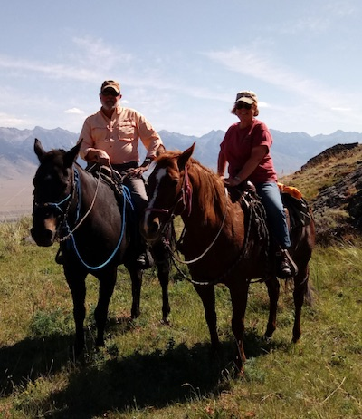 Horseback riding in Ennis, Montana