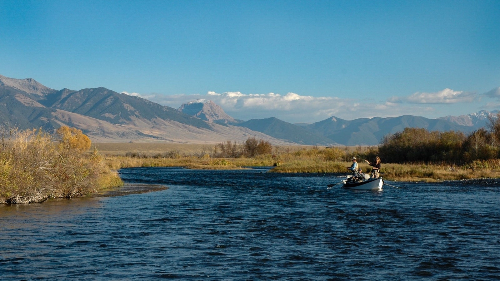Floating the Madison River in Montana