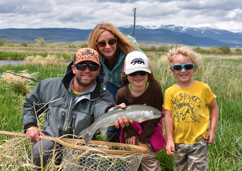 Kids fishing in Montana