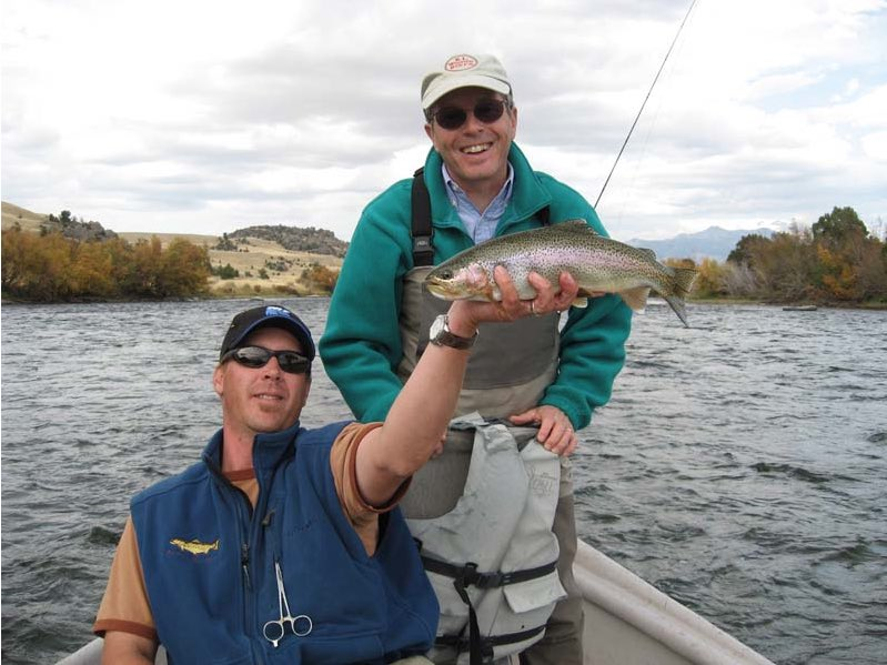 Fly fishing guide Gunnar Folsom