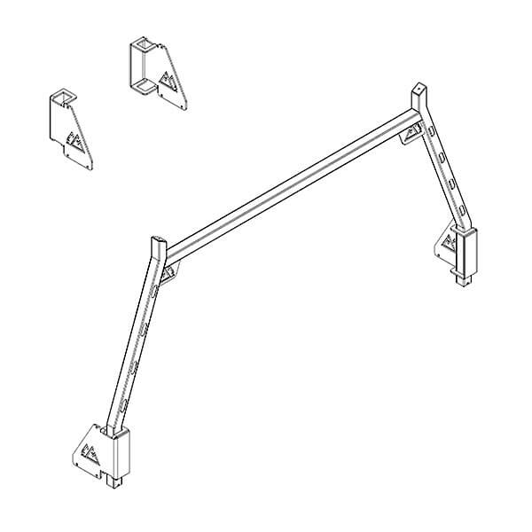 Ute Tray Rear Rack + Mounting Kit