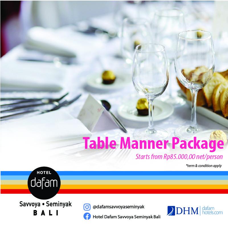 HDSSB Table Manner