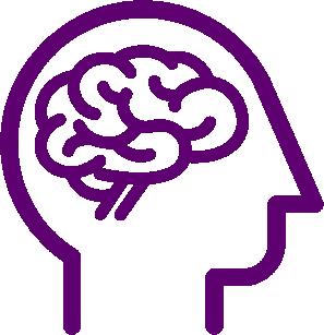 Head with a brain clipart