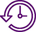 Clock with arrow clipart