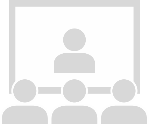 Clipart of people watching a presentation