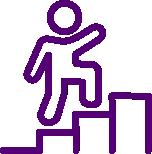 Man climbing a graph clipart