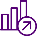 Graph with an arrow pointing upward clipart