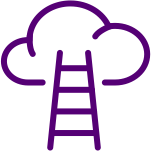 Ladder leading to a cloud clipart